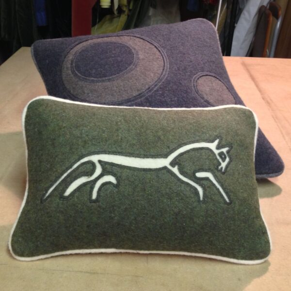White Horse Cushion