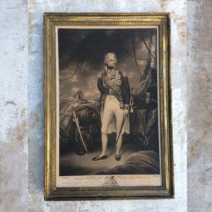 Admiral Nelson fine mezzotint by Edward Bell