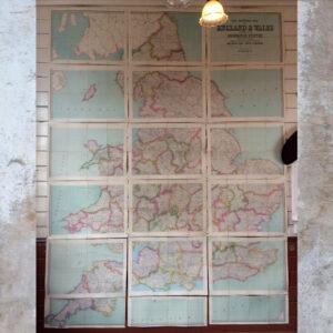 Imperial map of England & Wales published by John Bartholomew