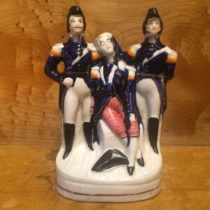 Death of Nelson Staffordshire figure group. English circa 1860 Restored
