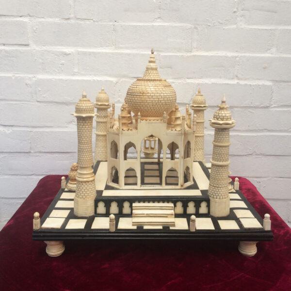 Large ebony & Ivorine table top model of the Taj Mahal. Indian circa 1900.