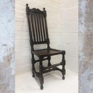Tall Back Queen Anne Oak Chair