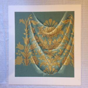 original gouache textile design. French 1930s. Mount 80cm x 88cm