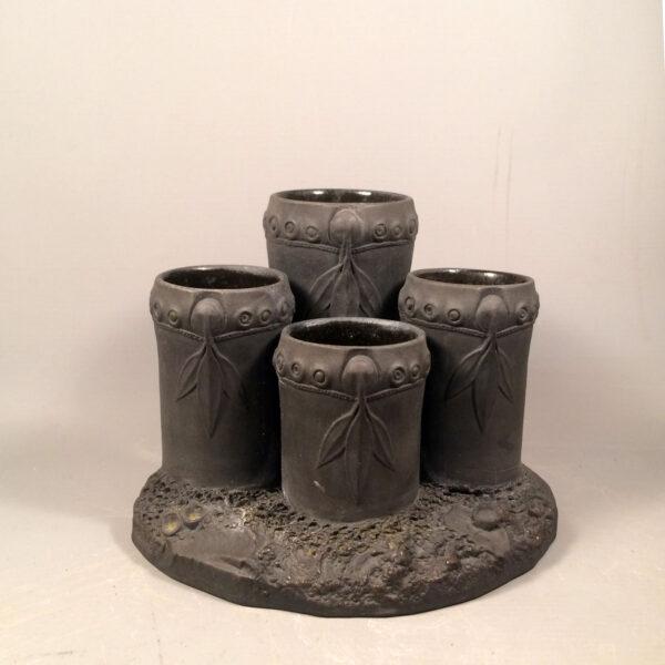 wedgwood black basalt ink well